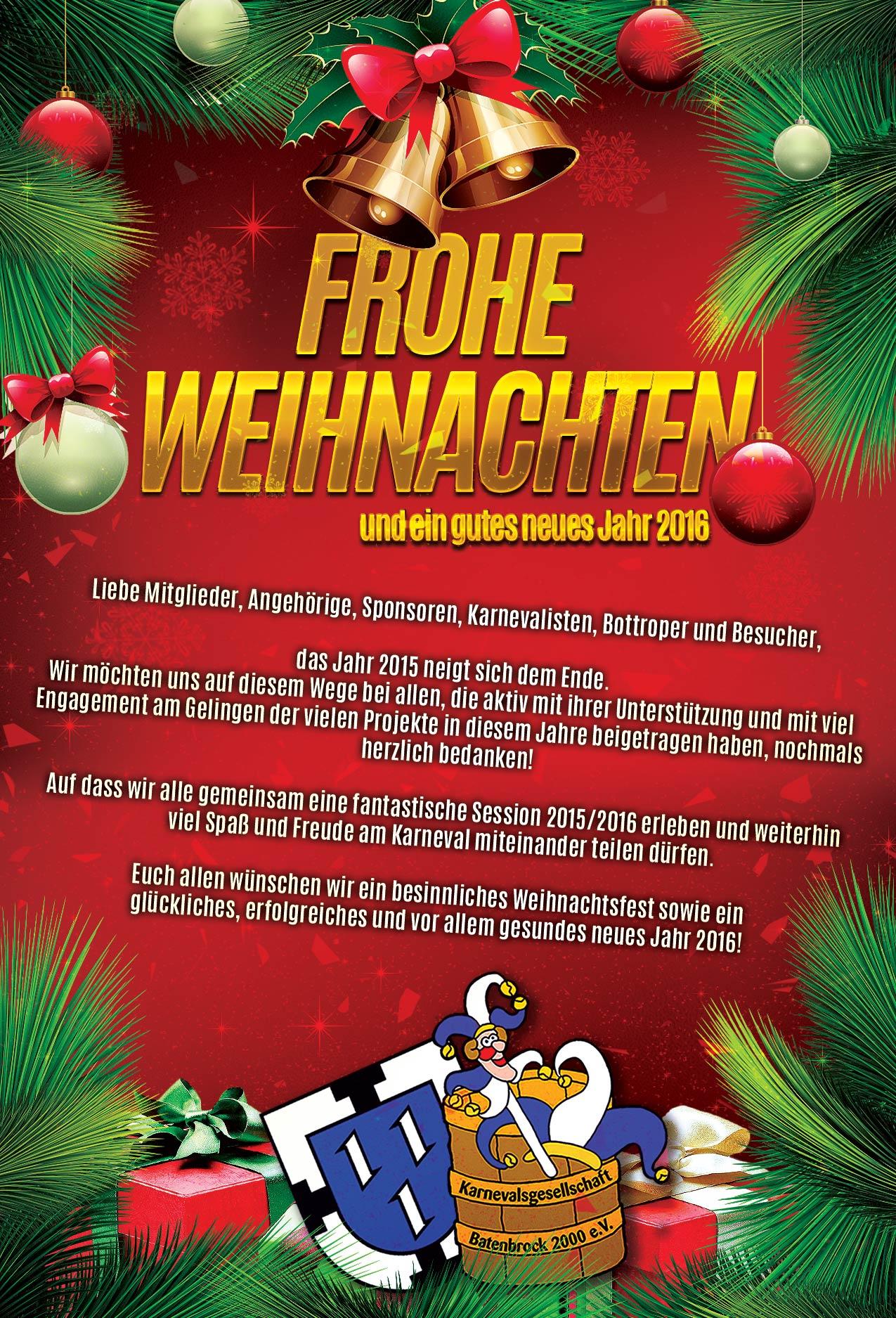 Alle Jahre wieder ... Weihnachtsgrüße | Karnevalsgesellschaft ...