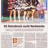 KG Batenbrock sucht NAchwuchs